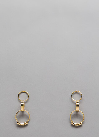 Three-Ring Circus Linked Earrings