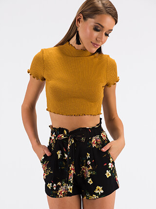 Every Day Lettuce-Edged Crop Top