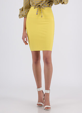 Fits Like A Glove Bandage Pencil Skirt