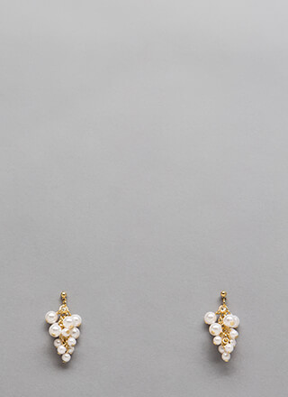 Grape Expectations Faux Pearl Earrings