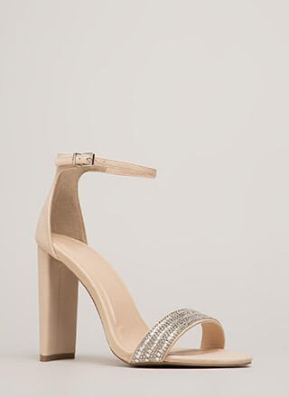 Sparkle Factor Jeweled Chunky Heels