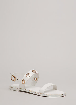 Hole Punch Studded Grommet Sandals