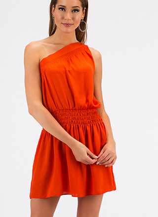 Lessons In Asymmetry One-Shoulder Dress