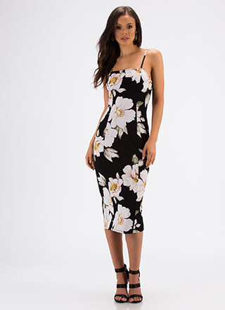 Stop And Smell The Flowers Floral Dress