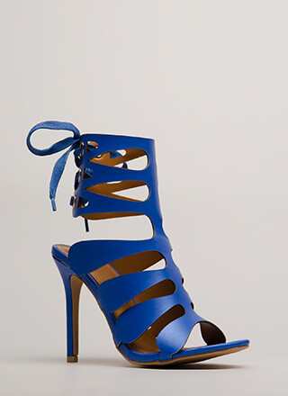 Going Cut-Out Tonight Lace-Back Heels