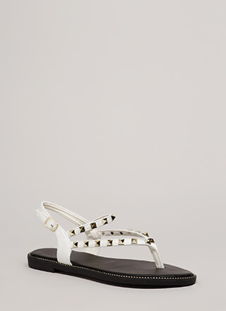 What A Trip Studded Thong Sandals