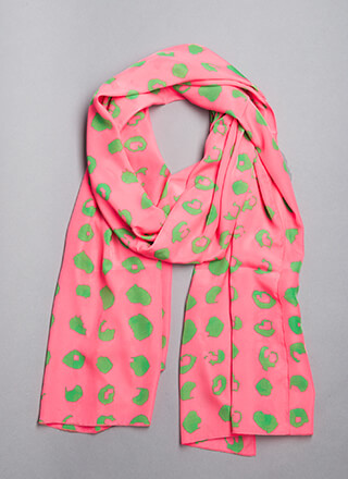 Paint A Pretty Picture Spotted Scarf
