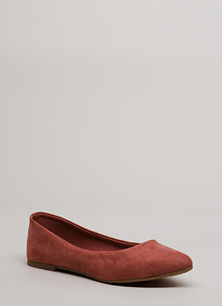 Keeps Me Grounded Faux Suede Flats
