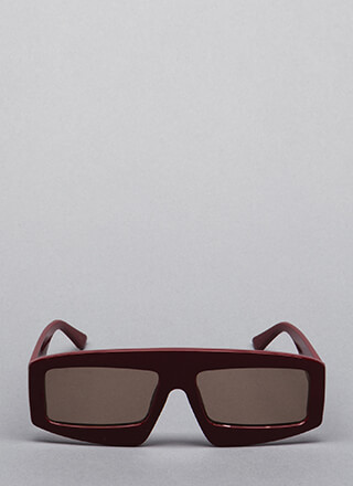 New Dimension Thick-Rimmed Sunglasses