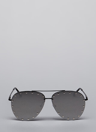 Big Stud Aviator Sunglasses