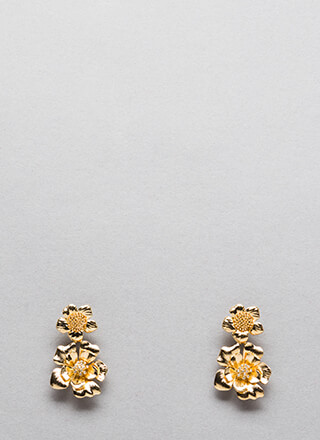 Petal Perfect Shiny Flower Earrings