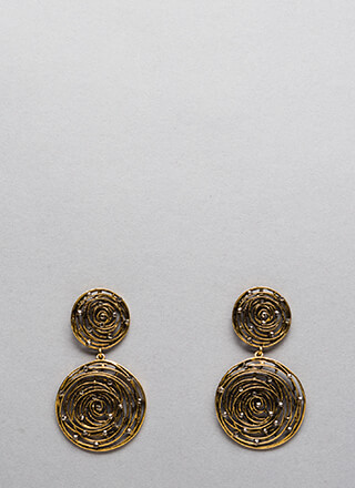 Whirlpool Romance Studded Earrings