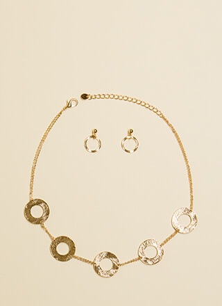 Ring Down The House Necklace Set