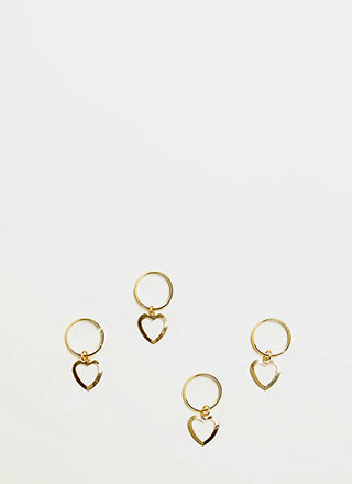 All My Hearts Cut-Out Hair Ring Set