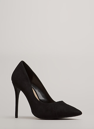 Killer Heels Pointy Faux Suede Pumps