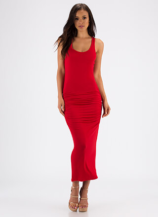 Tanks For Everything Ruched Maxi Dress
