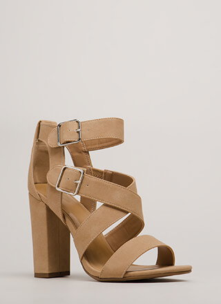 Strap To Attention Chunky Heels