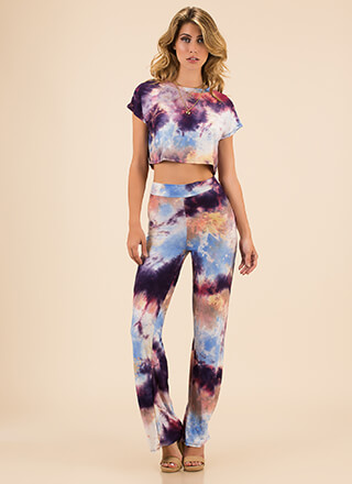 Truly Tie-Dye Top And Pant Set