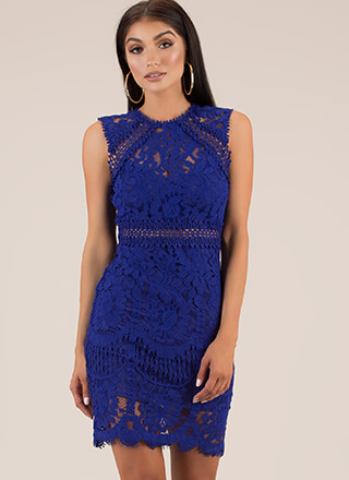 Pretty Perfect Floral Lace Midi Dress