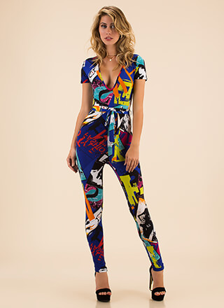 Walking Billboard Poster Print Jumpsuit
