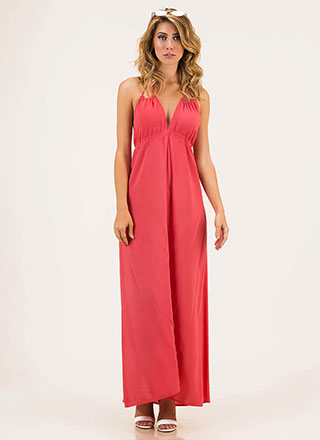 Welcome To The Weekend Halter Maxi