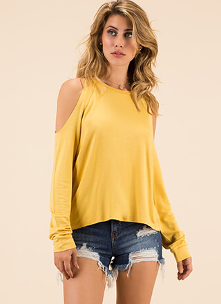 Time To Relax Cold-Shoulder Top
