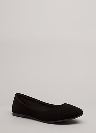 Tap Your Toes Faux Nubuck Ballet Flats