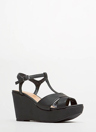 Stepping Out In Platform Wedges