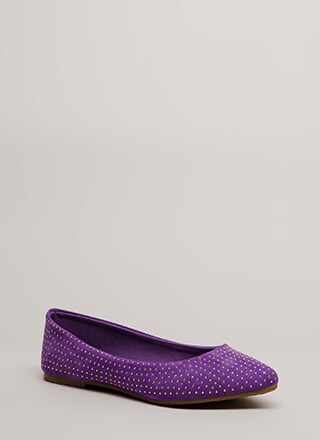 Dot The Eyes Studded Pointy Flats