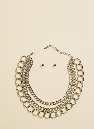 Link Of Me Fondly Chain Choker Set