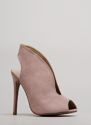 Live Coverage Cut-Out Peep-Toe Heels