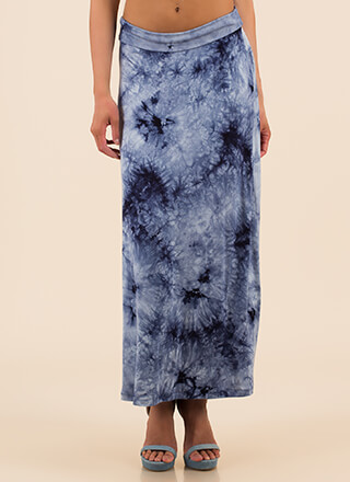 Beach Outing Tie-Dye Maxi Skirt
