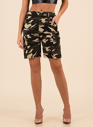 Surrender Now Camo Cargo Shorts