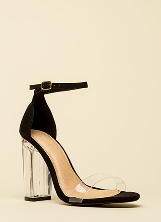 Clearly Amazing Chunky Lucite Heels