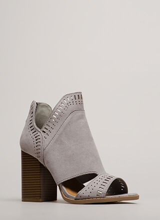 Cut-Out For These Block Heel Booties