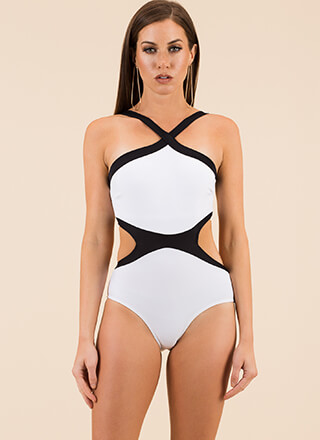 Simply Stunning Two-Toned Swimsuit