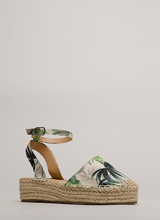 I'm On Vacation Espadrille Sandals