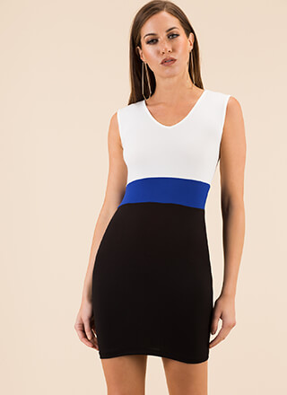 Count To Three Colorblock Minidress