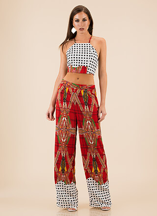 Finding My Prints Top And Pant Set