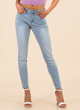 All You Need Mid-Rise Skinny Jeans