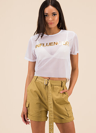 Fashion Influencer Sheer Graphic Tee