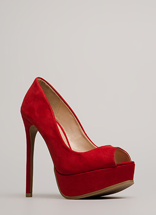 Get High Peep-Toe Stiletto Platforms
