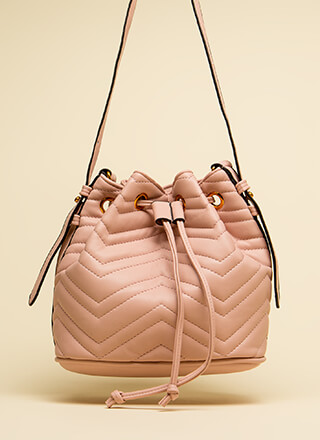 You've Got Options Quilted Bucket Bag