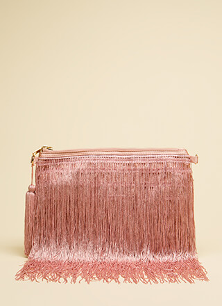 Fringe Fest Tasseled Clutch