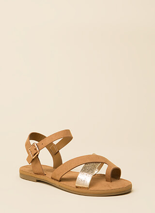 A Little Flash Strappy Sandals