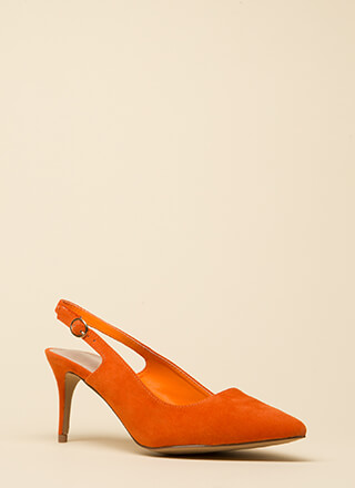 Short Answer Pointy Slingback Heels