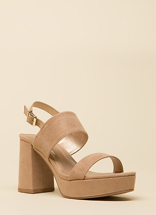 Truth Or Flare Platform Block Heels