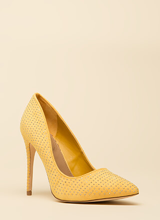 Your Time To Shine Pointy Studded Pumps