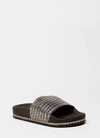 Jewelry Shop Platform Slide Sandals