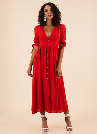 Casual Elegance Button-Up Maxi Dress